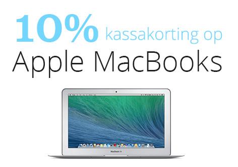 10% korting op macbooks