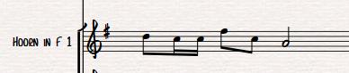 Het startpunt: een f-hoorn partij in je score