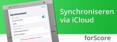 Synchroniseren in forScore met iCloud